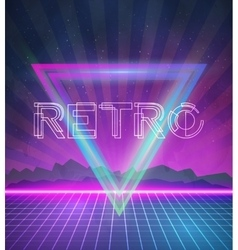 1980 Neon Poster Retro Disco 80s Background made vector image