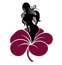 Abstract shape of beautiful woman icon cosmetic vector