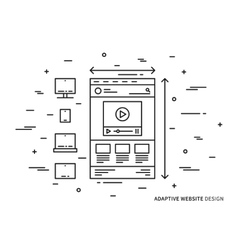 Adaptive website vector