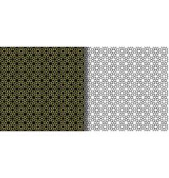 Arabic geometric seamless patterns set from stars vector