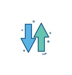 arrow one way road sign icon design vector image