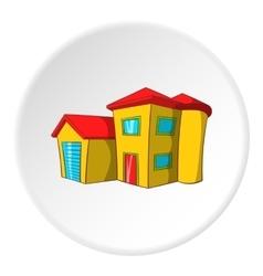 Big house icon cartoon style vector