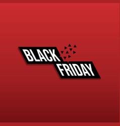 black friday background banner logo vector image