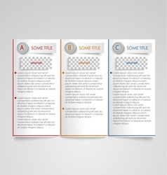 Brochure modern design element vector