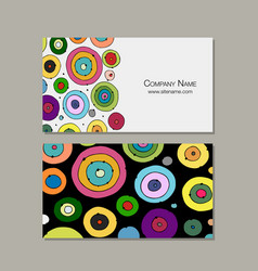Business card design abstract circles vector