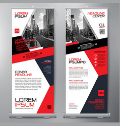 Business roll up standee design banner template vector