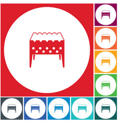 camping brazier icon vector image