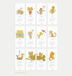 Cats calendar 2014 vector