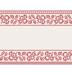 christmas knitted background vector image