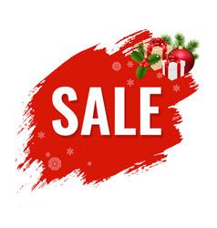 christmas sale with blob vector image