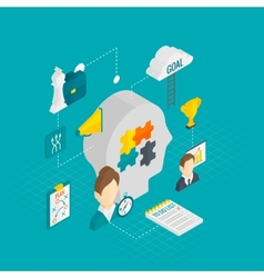 Coaching Business Isometric vector