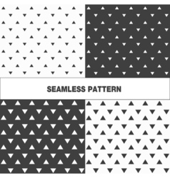Collection of seamless pattern with triangles vector image