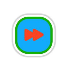 color label design icon design button music vector image