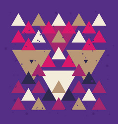 colorful background with triangle geometric vector image