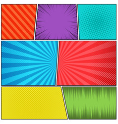 comic book pages concept vector image
