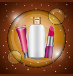 Cosmetics makeup related vector