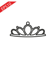 crown icon isolated sign vector image