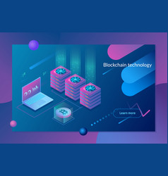 cryptocurrency and blockchain conceptfarm vector image