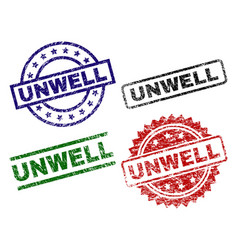 Damaged textured unwell seal stamps vector