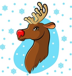 Deer cartoon back vector