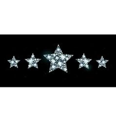 Diamond stars vector