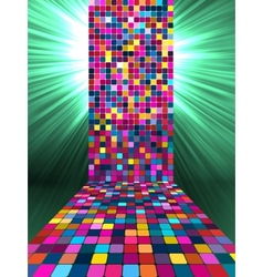 Disco Mosaic Background vector image