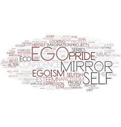 Ego word cloud concept vector