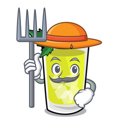 Farmer mint julep character cartoon vector