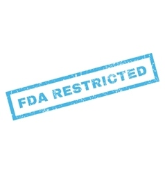 FDA Restricted Rubber Stamp vector