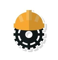 Gear and helmet of Under construction concept vector