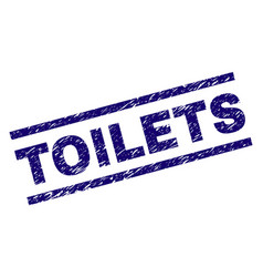 Grunge textured toilets stamp seal vector