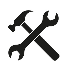 Hammer turnscrew tools icon vector
