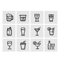 icon beverage vector image