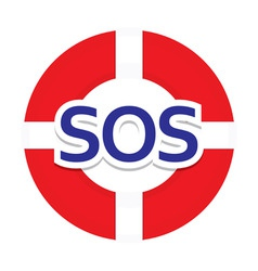 Icon sos vector