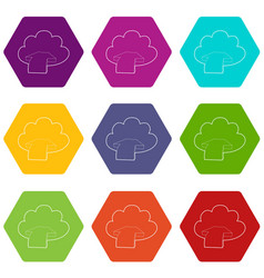 incoming database icons set 9 vector image