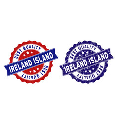 ireland island best quality stamp with grungy vector image