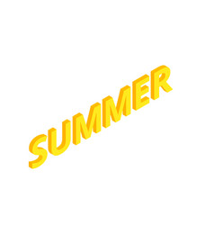 isometric lettering composition summer vacation vector image