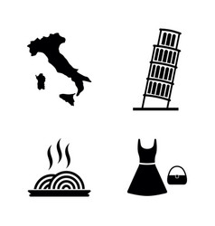 italy simple related icons vector image