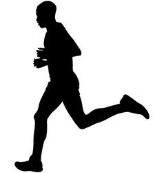 Kenyan athlete marathon runner vector