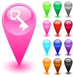 Key button vector