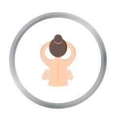 Massage icon of for web and vector