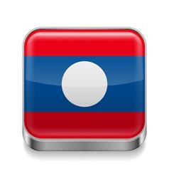Metal icon of Laos vector image