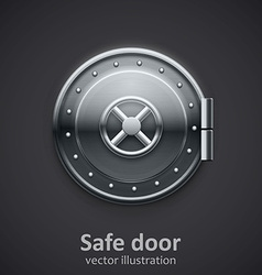 metal safe door realistic 3d object vector image