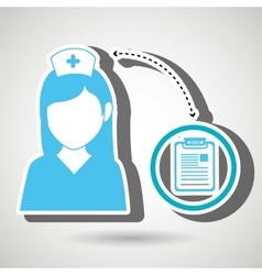 Nurse and clinic history isolated icon design vector