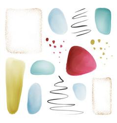 pastel brush splashes abstract watercolor blob set vector image