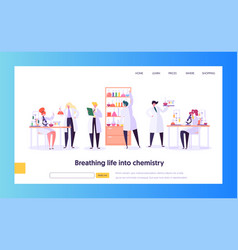 pharmaceutic laboratory research concept web page vector image