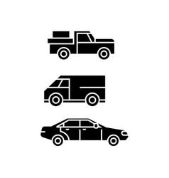 pickup car black icon concept pickup car vector image