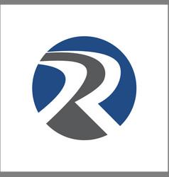R logo abstract solid circle vector