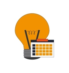 Regular lightbulb and calendar icon vector