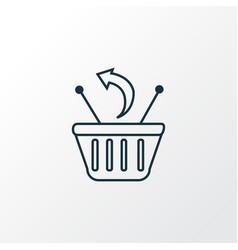 returns icon line symbol premium quality isolated vector image